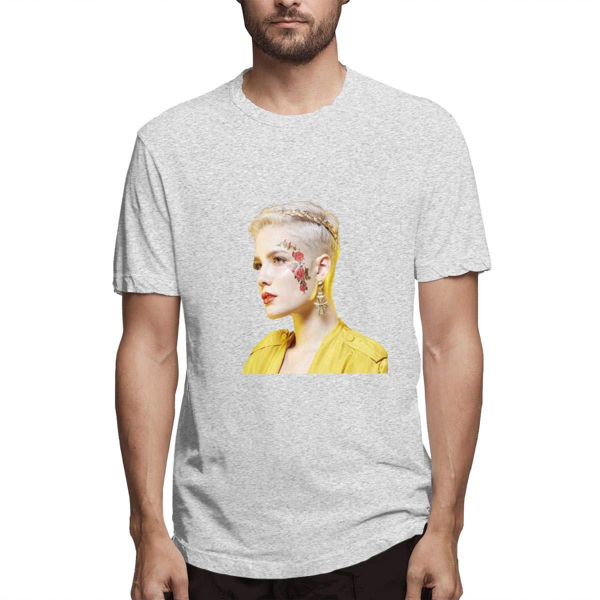 Cybest Halsey Shirt Mens Classic Crop Top Summer Dew Navel for Unisex