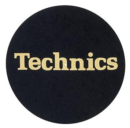 2 x Technics Slipmats negro con oro Logo: Amazon.es: Instrumentos ...