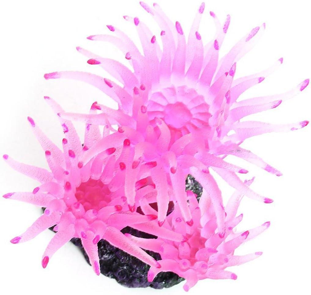 Aquarium Artificial Sea Urchin Coral Plant Water Ornament Decoration Fish Tank Plastic Soft