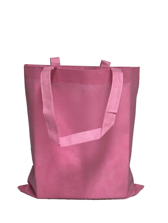 再利用可能な会議/カンファレンス用トートバッグ 不織布 明るい色 販促 景品向け Set of 100 ピンク B01N0OHGUG Set of 100|ライトピンク ライトピンク Set of 100