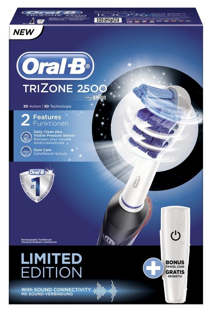 Braun Oral B TriZone 2500 Black - Cepillo de dientes eléctrico, color negro: Amazon.es: Salud y cuidado personal