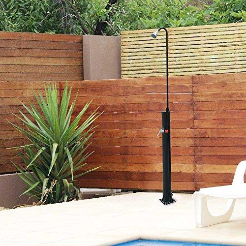7 FT Pool Spa Solar Base Shower Outdoor Backyard Poolside Beach With Sprinkler Outdoor Solar Shower