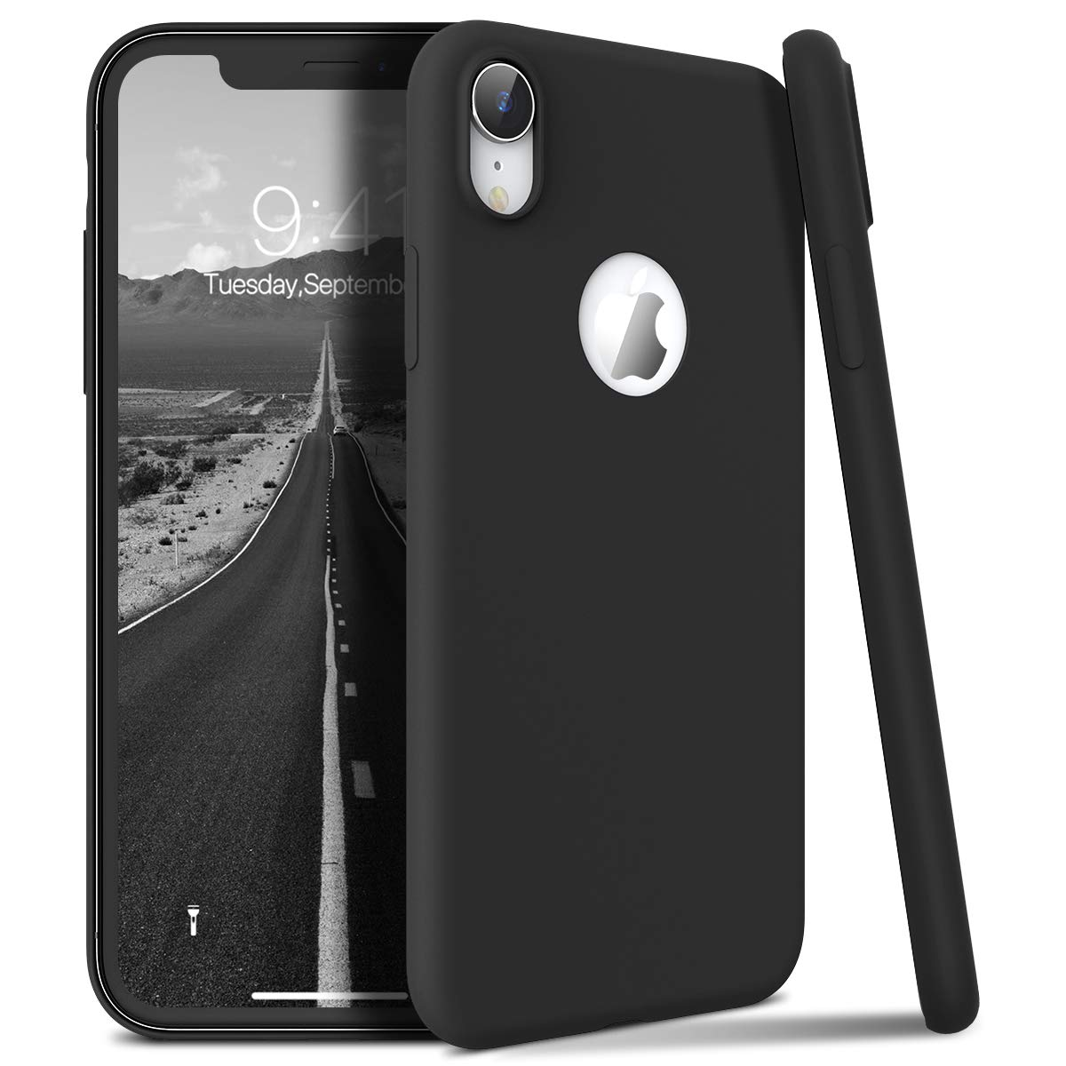 Winhoo Back Cover Case for iPhone XR Silicon Soft TPU Slim Matte Flexible Shockproof Gel Rubber Ultra Thin Candy Back Cover Case - Black (B07SNHJ8GP) Amazon Price History, Amazon Price Tracker
