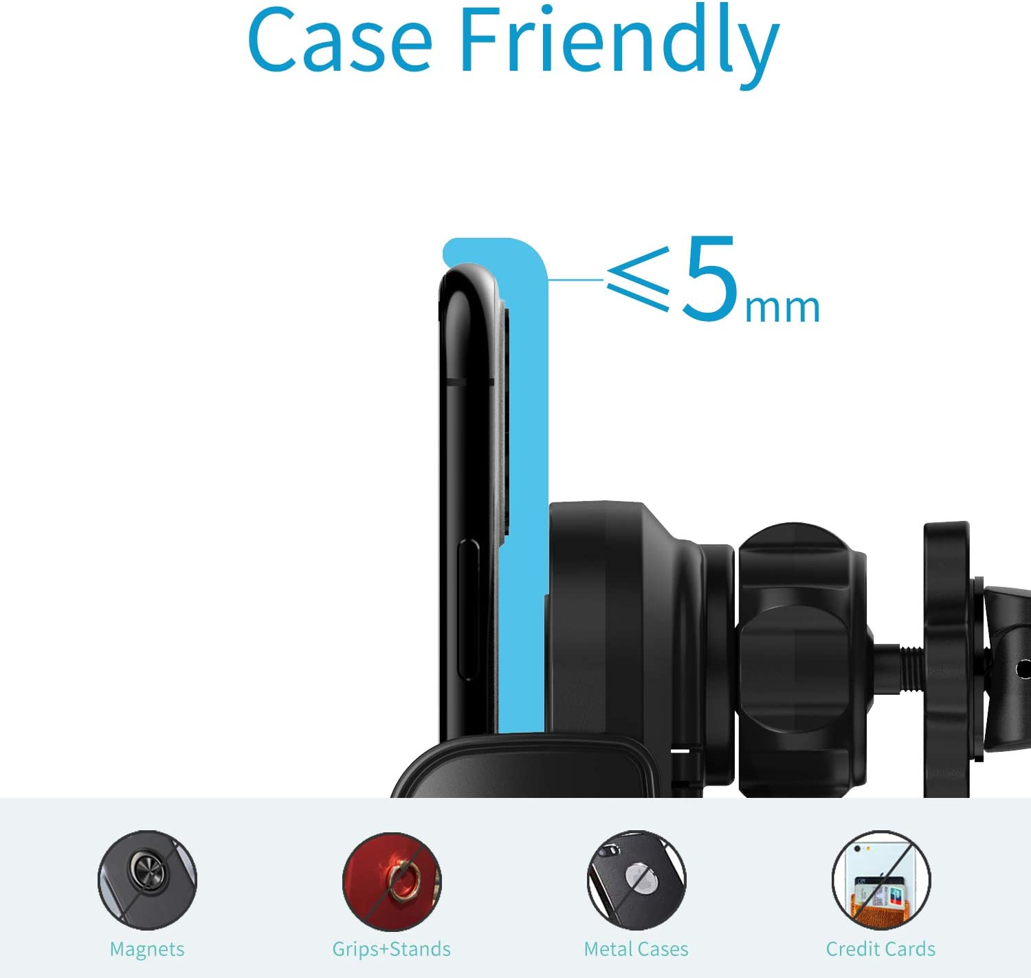 15W Wireless Car Charger,Qi Fast Charging Auto-Clamping Car Phone Mount Air Vent Phone Holder Compatible with iPhone11//11Pro//11ProMax//XSMax//XS//X//8//8 Samsung S10//S10+//S9//S9+//S8//S8+//Note and More