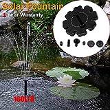 Solar Power Bird Bath Fountain, Water Pump, Jaminy Outdoor Solar Powered Bird Bath Water Fountain Pump For Pool, Garden, Aquarium
