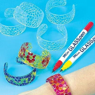 Baker Ross Lot de 6 Bracelets Mosaïque en Cristal à colorier