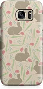 Samsung S7 Case Spring Rabbit Pattern Sleek Design Durable Samsung S7 Cover Wrap Around