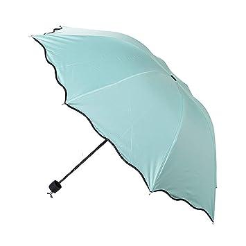 Amazon.com: Paraguas pequeño de bolsillo plegable grueso de ...