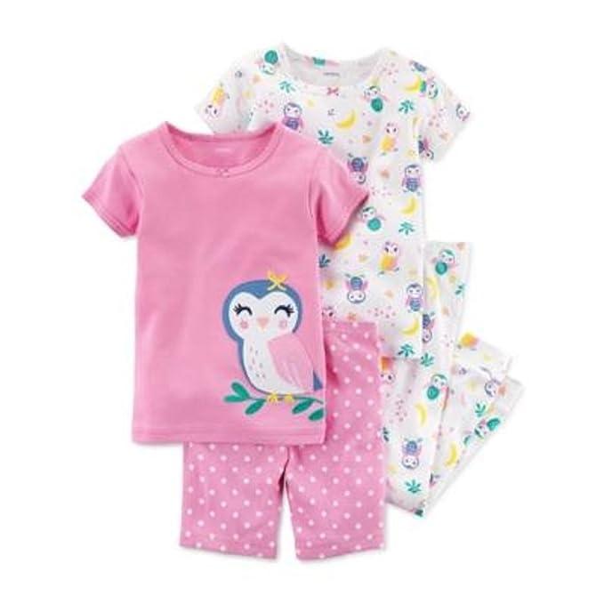 d12ef7d6f Carter s - Set de Pijama de 4 Piezas con Estampado de búho