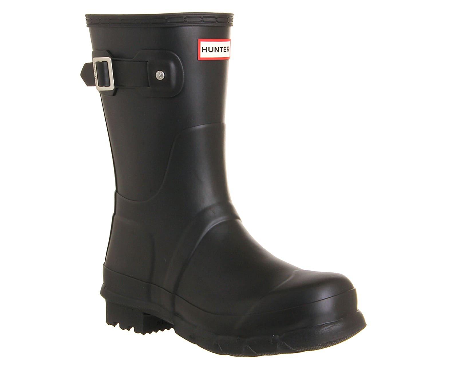Hunter Boots Men's Original Short Boots, Black, 13 D(M) US