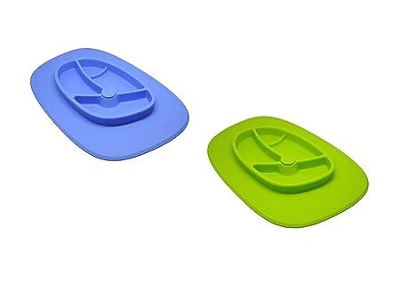 Xena 2 piezas azul verde flexible para niños bebés cuenco de ...
