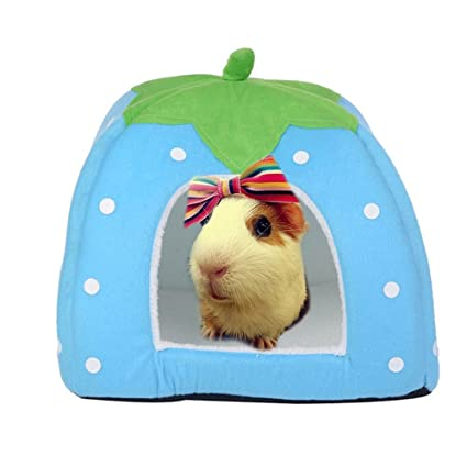 Guinea Pig Chinchillas Squirrel Bed Nest Hamster House Hammock Cage Accessories Mini Animals Hamster Bed Color Randomly Home & Garden