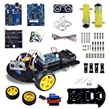 arduino motor shield kit - UCTRONICS Smart Robot Car Kit for Arduino Automatic Avoidance of Obstacles with UNO R3, 2-wheel Drives, HC-SR04 Ultrasonic Sensor, L293D Motor Control Shield, Micro Servo Motor 9g
