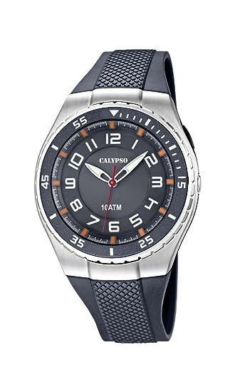 Calypso Watches K6063_1 - Reloj Analógico Para Hombre, color Gris: Amazon.es: Relojes