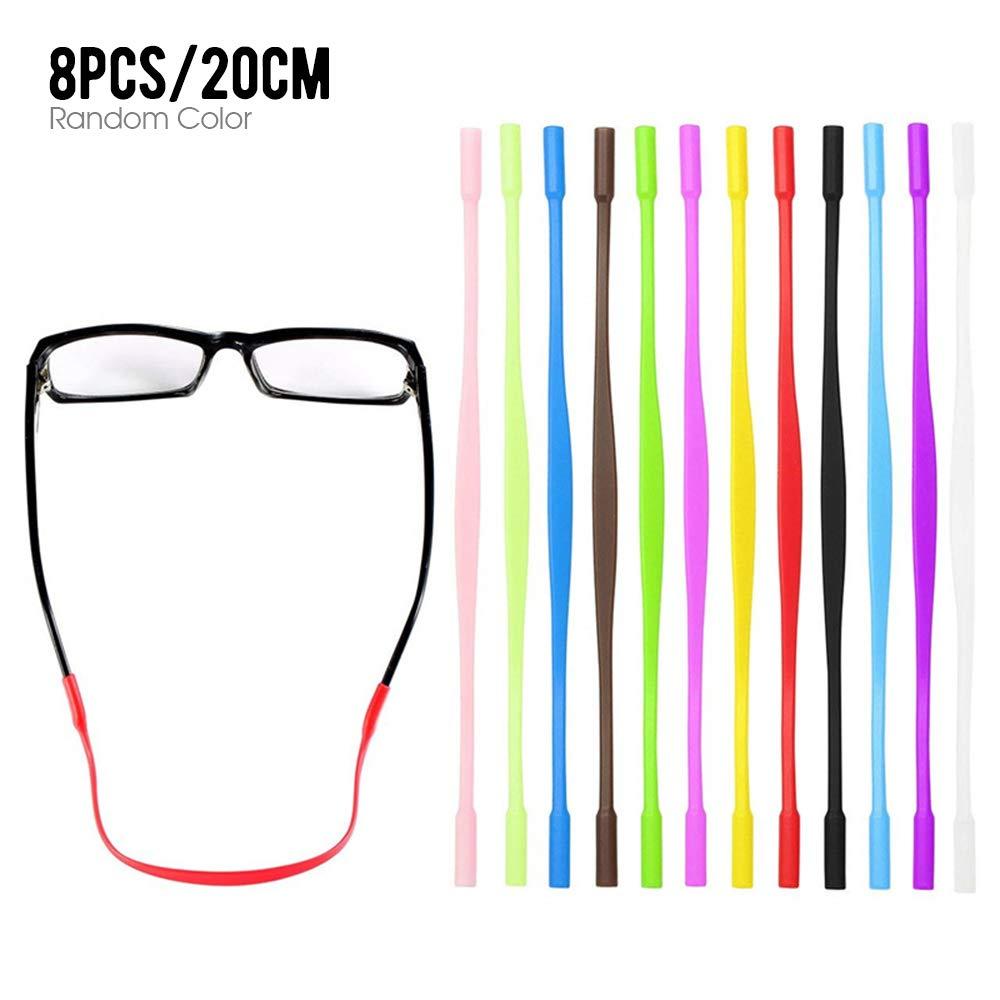 Dilwe 5 st/ücke Glasses Strap Elastische Sonnenbrillen Band Brillenband universelle Passform Eyewear Strap f/ür Sportbrillen oder Sonnenbrillen