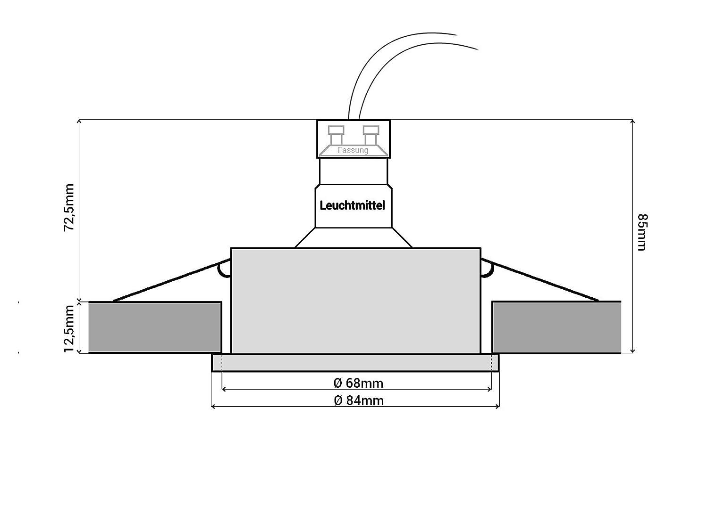 LED Einbau-Strahler für Bad DIMMBAR, Feuchtraum IP65, Einbau-Leuchte ...