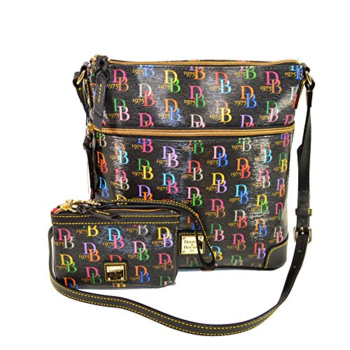 Dooney & Bourke Signature Crossbody w/ Wristlet set