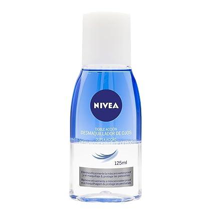 NIVEA Desmaquillador de ojos de doble acción bifásico, líquido desmaquillante para el contorno de ojos