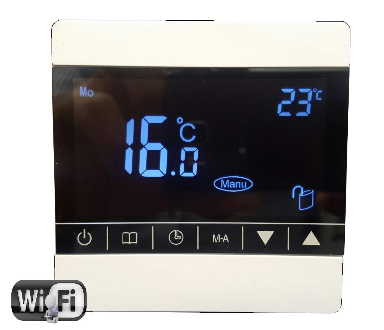 4.0m2 White Touch Thermostat Electric Underfloor Heating kit 150w