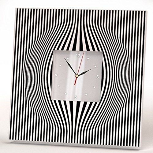 (Abstract Minimalistic Lines Wall Clock Framed Square Mirror Art Home Room Decor Gift Minimal Design)