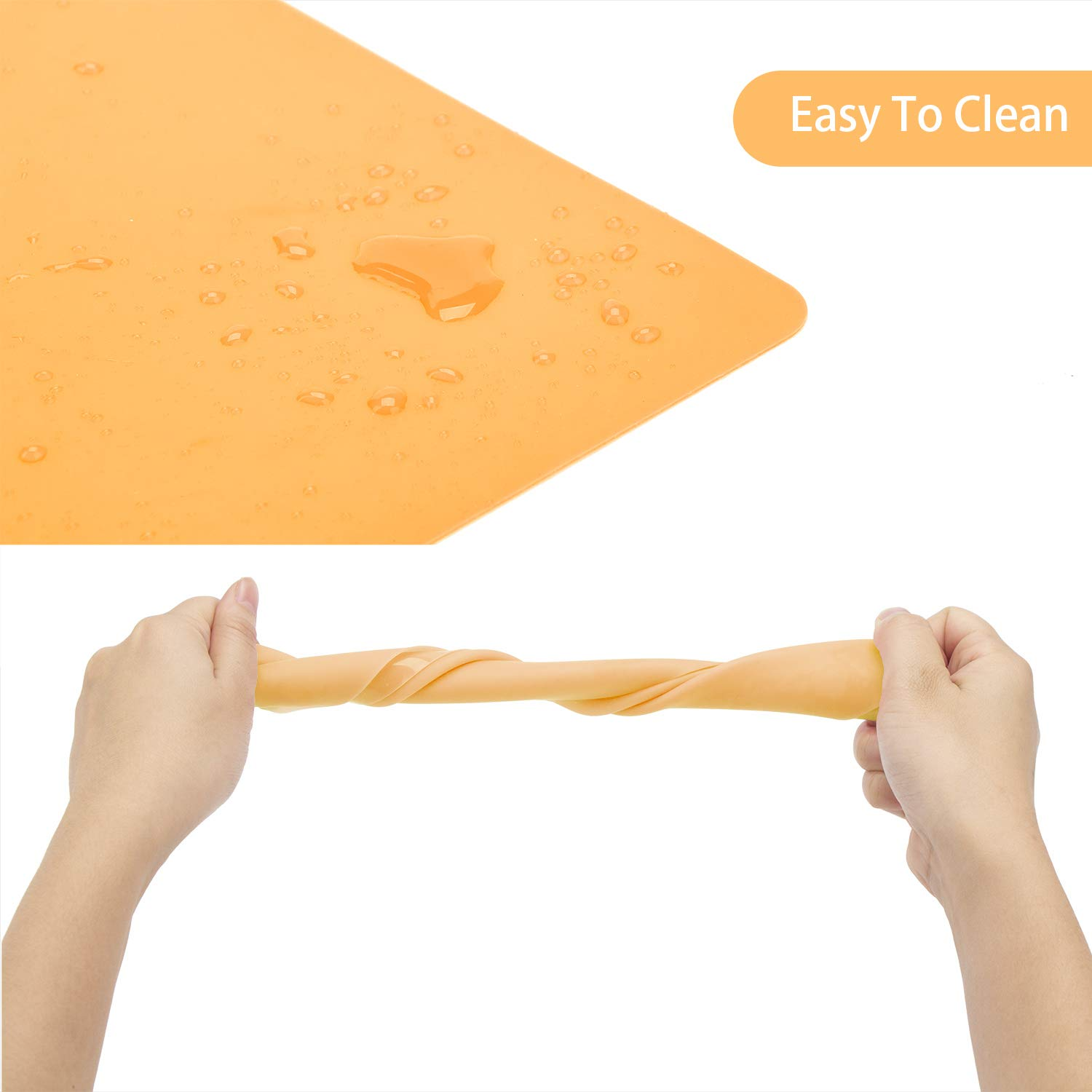 Countertop Protector Heat Resistant Gartful 3 Pack Medium Silicone Sheet for Crafts Resin Jewelry Casting Molds Mat Orange 15.7 x 11.8 inches Nonstick Nonskid Multipurpose Counter Table Mat Placemat