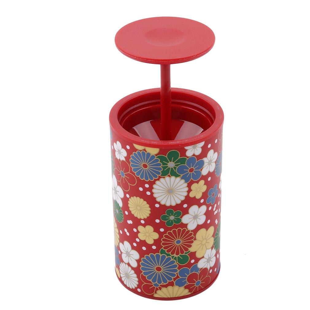 Yinew Automatische Pop-up-Zahnstocher Halter Baumwolle Bud Halter Spender Kaleidoskop Zahnstocher Behälter, ABS, Blau/Rosa, Siehe Produktbeschreibung