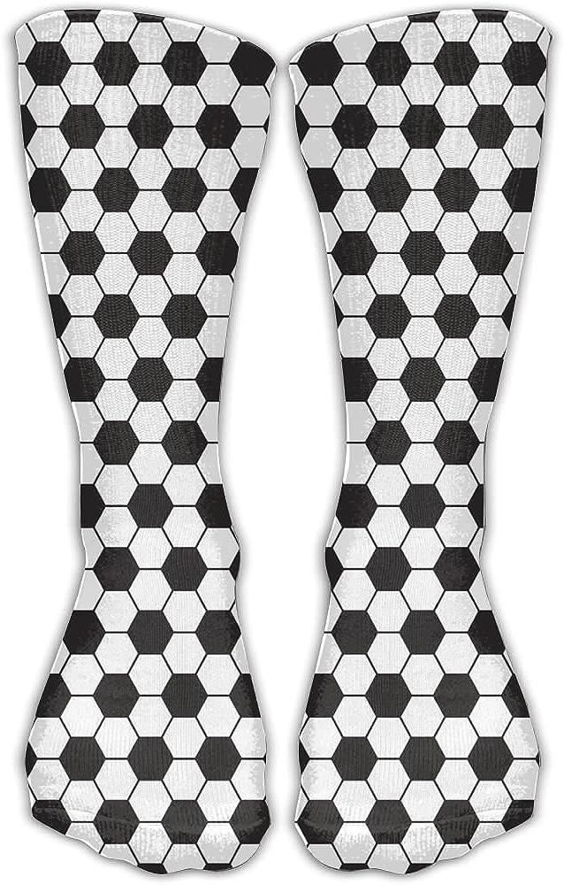 SARA NELL Women Lady Girls Classics Crew Socks Soccer Balls Personalized Athletic Dress Socks 30cm Long-All Season