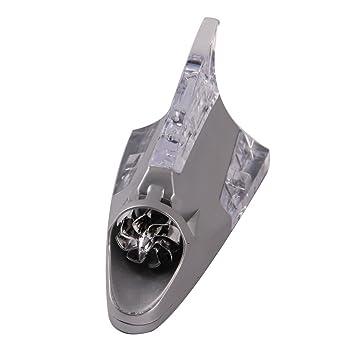 Possbay Car Vehicle Antenna Aerial Auto Shark Fins Design Roof Decorative LED Light Wind Power