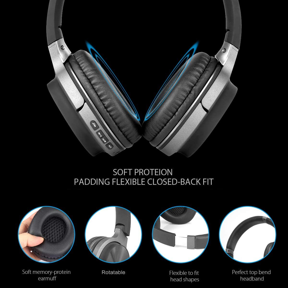 AZK Bluetooth Headphones Lightweight