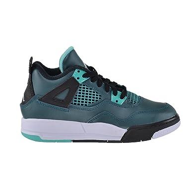 7172889f23f Jordan 4 Retro BP Little Kids Shoes Teal White-Black-Retro 308499-
