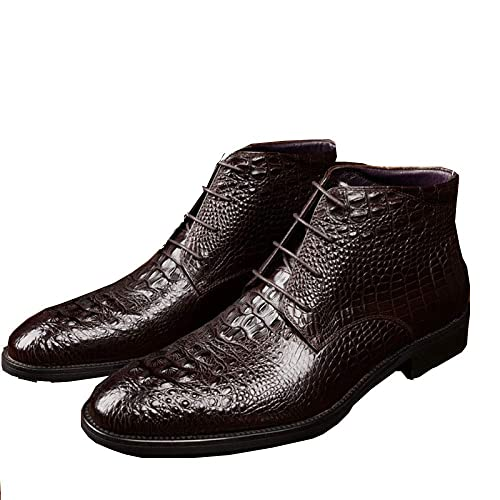 Botas Martin De Encaje Negro para Hombre, Botines De Tendencia De Moda Vaquero para Hombre
