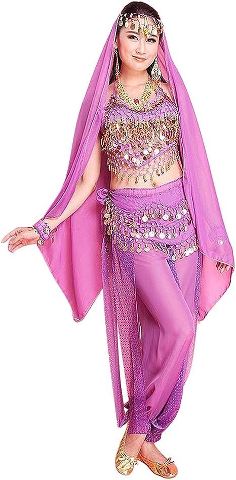 MINLIDAY Disfraz Danza del Vientre Mujer en Gasa, 7 Piezas Danza ...