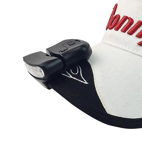 ALIKEEY 5Led Cap Hat Brim Clip LáMpara Head Faro Que Acampa Yendo De Pesca Clip Cap