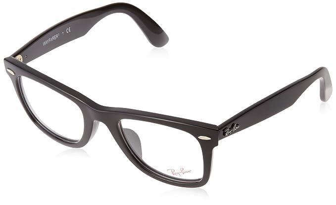 c2c36caac9 Amazon.com  Ray-Ban Men s RX5121F Eyeglasses Shiny Black 50mm  Clothing