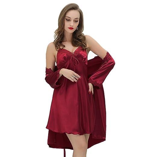 Satin robe sexy