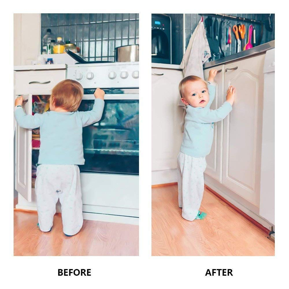 Baby Proofing Magnetic Child Safety Locks for Cabinet Cupboard Drawer Doors 20 Locks 3 Keys by ITOOL (Image #4)