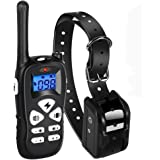 Ticent Dog Training Collar 1800ft Remote Rechargeable Waterproof Electric Shock Collar with Beep Vibration Shock for Small Medium Large Dogs (2018 Upgraded)