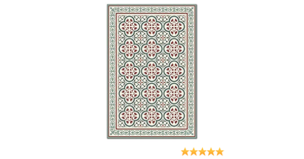 PVC vinyl mat Carpet Tiles Pattern Decorative linoleum rug green and bordex 177