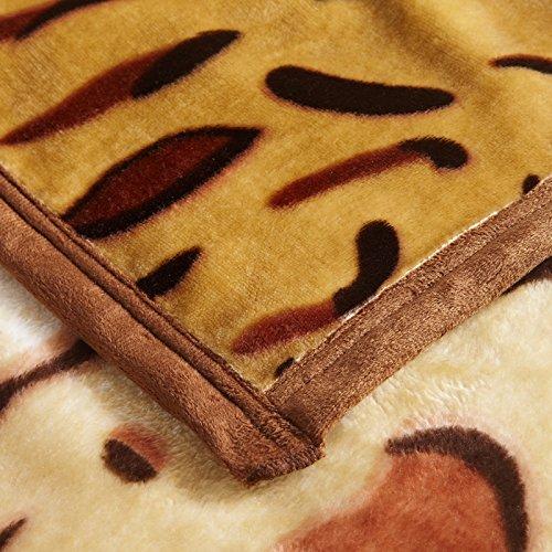 couvre lit motif leopard high quality Shinemoon Collection Home Parure de lit chaud doux  couvre lit motif leopard