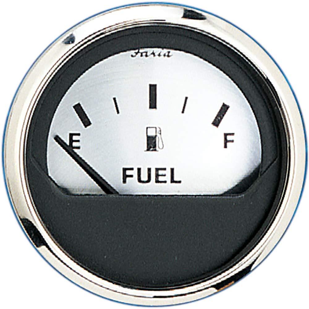 "Faria 2"" Fuel Level Gauge (E-1/2-F) - Spun Silver [16001]"