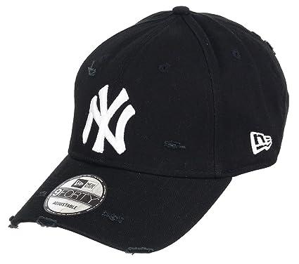 Unbekannt New Era 9forty Strapback Gorra MLB New York Yankees NY Distressed  Black dba58907a84