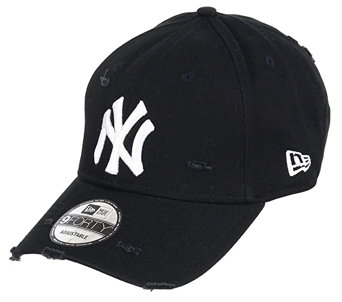 Unbekannt New Era 9forty Strapback Gorra MLB New York Yankees NY Distressed Black, OSFA (
