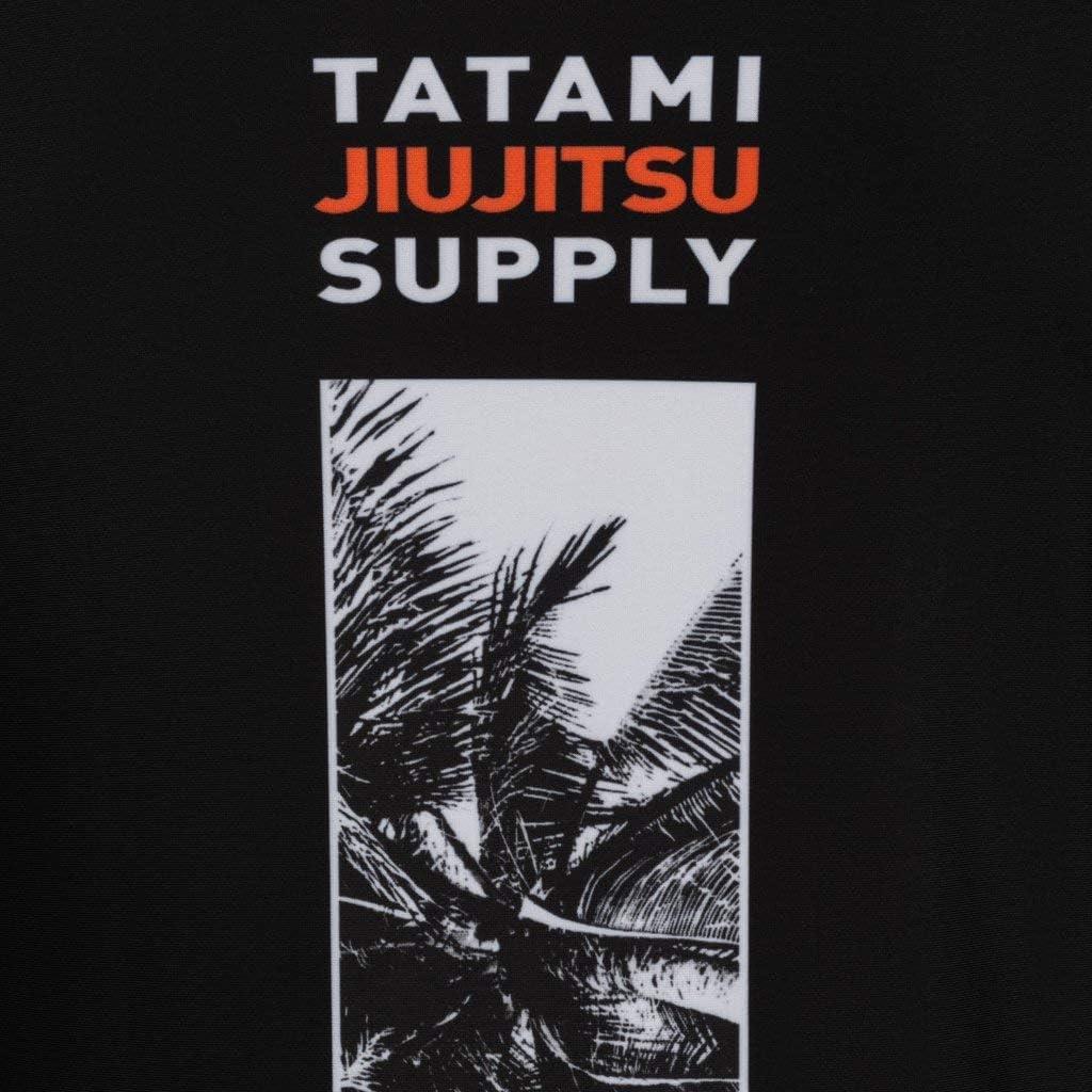 Tatami Fightwear Tropic Black Rash Guard Mens Chemise de Compression Homme MMA BJJ Arts Martiaux Fitness Grappling Boxe No Gi