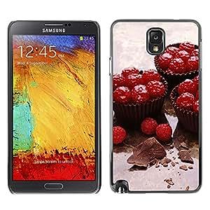 TopCaseStore / la caja del caucho duro de la cubierta de protección de la piel - Fruit Cupcakes - Samsung Galaxy Note 3 N9000 N9002 N9005