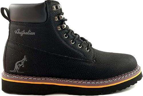 new styles 88b34 9e77e AUSTRALIAN Scarponcini Uomo Stivali Stringati Inverno Black ...