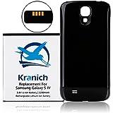 Kranich® 5200mAh Haute Capacité NFC Batterie Li-ion pour Samsung Galaxy S4 I9500 avec coque noir