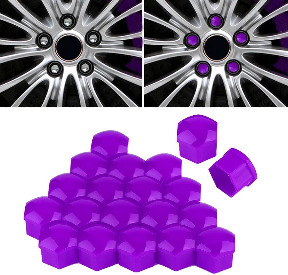Fydun Tapa del cubo Tuerca Rueda del coche Protecci/ón del tornillo del cubo autom/ático Tapa antirrobo 20pcs 17mm Azul