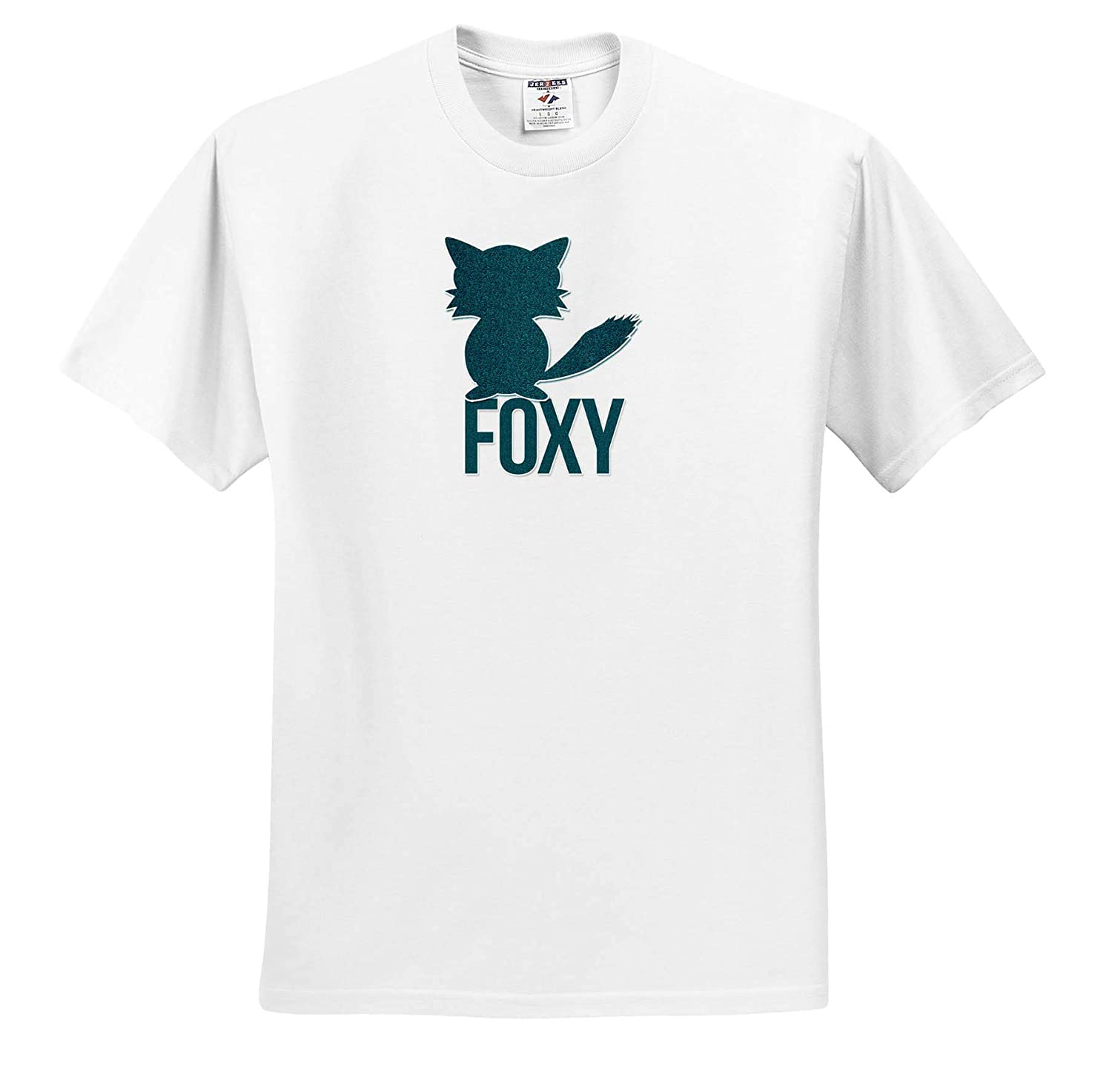 ts/_310178 Foxy Funny Green Fox Play on Words for Her Adult T-Shirt XL 3dRose Doreen Erhardt Wildlife