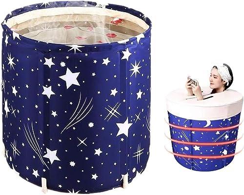 IWISHO 27×25'' Folding Bathtub Star PVC FOLDABLE Portable Bathtub Water Tub Soaking Standing Bath Tub