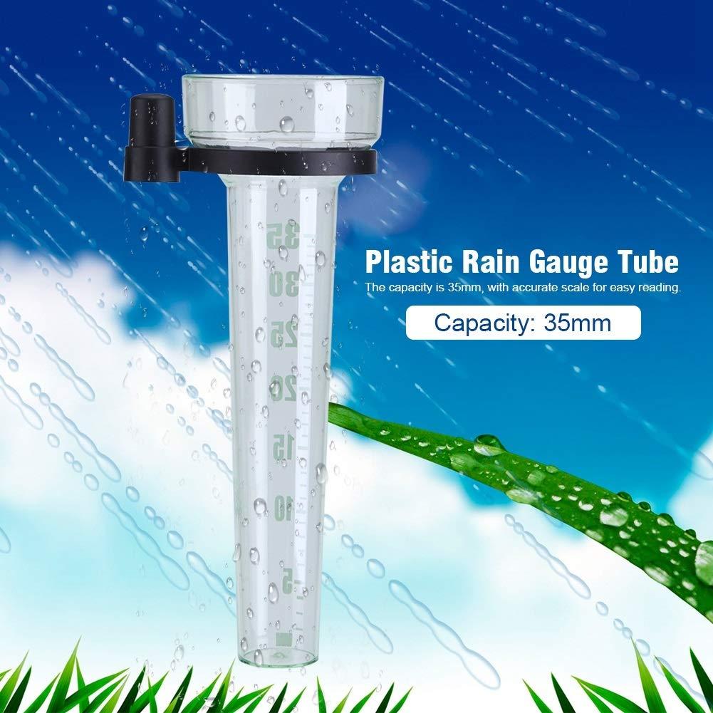 Solomi Regenmesser Kunststoff Genaue Messung 35mm Kapazit/ät Regenmesser Rohr f/ür Garten Outdoor Yard
